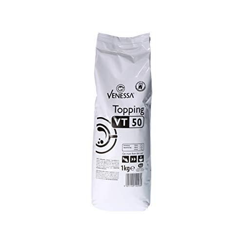 Venessa Topping VT 50, 10 x 1 kg, enthält 50% Magermilchpulver, Premium Topping für Kaffeevollautomaten, leicht löslich, feinporiger Schaum, Kaffeespezialität