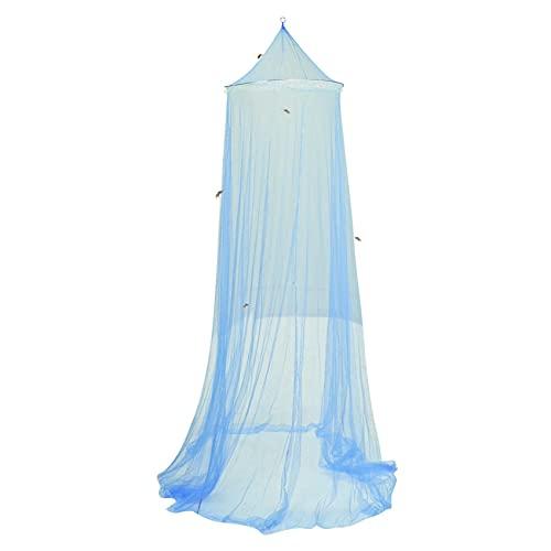 Mosquitera Cama Matrimonio,Mosquito Net for Bed Portable ,mosquiteras Plegable,Universal Mosquitera Cama Grande cupula,para Decorar la Habitación y Prevenir Insectos 9*0.6*2.6M (Azul)