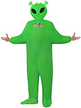 Inflatable Green Alien Halloween Costume (Adults or Kids)