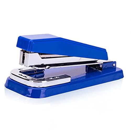 BARLEY Grapadora giratoria con NO.27 Grapas/NO.12 Grapas Multifuncionales Mandapradores de Escritorio 50 Hoja Capacidad Seguridad Máquina Grapadora (Color : White)