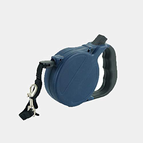 Prosa intrekbare hondenriem, 8 m, rolband voor kleine honden, 40 kg, met trekstop en karabijnhaak, verstelbaar, uittrekbaar, automatische rollinnen, blauw