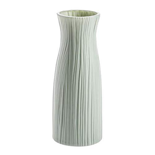 Blssom Vase, Anti-Drop Vase, Blumenvasen Kleine, Moderne Tischvase Blumen Pflanzen, kreative Porzellan-Like Dekorative Vase Handgefertigte Deko-Vase, Dekorative Vase für Home Office (Grün)