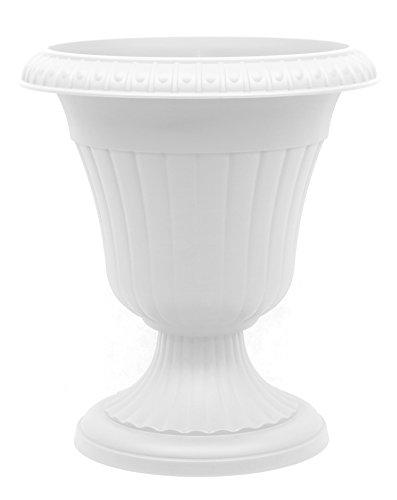 Pflanzkübel Blumenspindel Pflanzschale Milano ∅37cm Weiß