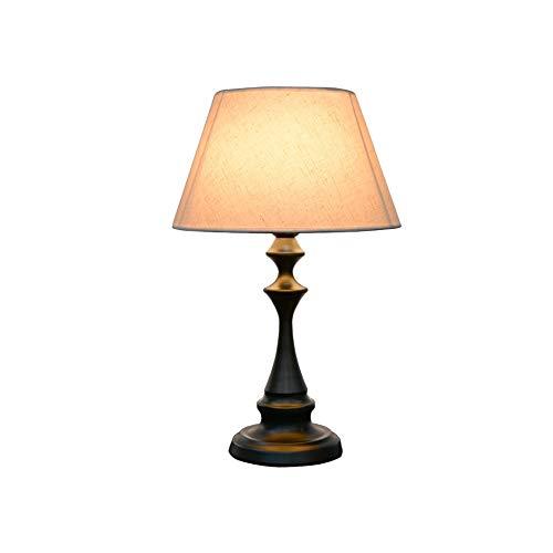 Towero Lampada da tavolo retrò semplice moda calda creativa romantica americana lampada da tavolo in ferro battuto, adatta for lampada da comodino camera da letto soggiorno studio ufficio ristorante h