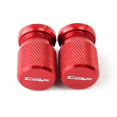 Repuestos Powersports For Honda CBF 125 150 250 500 600 600 s CBF1000 Válvula del neumático rueda de vástago hermético Cubierta Pantalla Universal de accesorios de la motocicleta (Color : Red)
