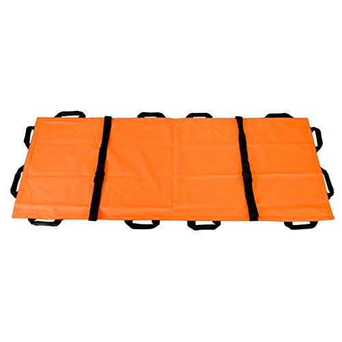 Baoblaze Tragetuch Rettungstuch Bergetuch für Feuerwehr und Rettungsdienst, mit Verstärkter Tragegriffe - Orange, 195 x 70 cm