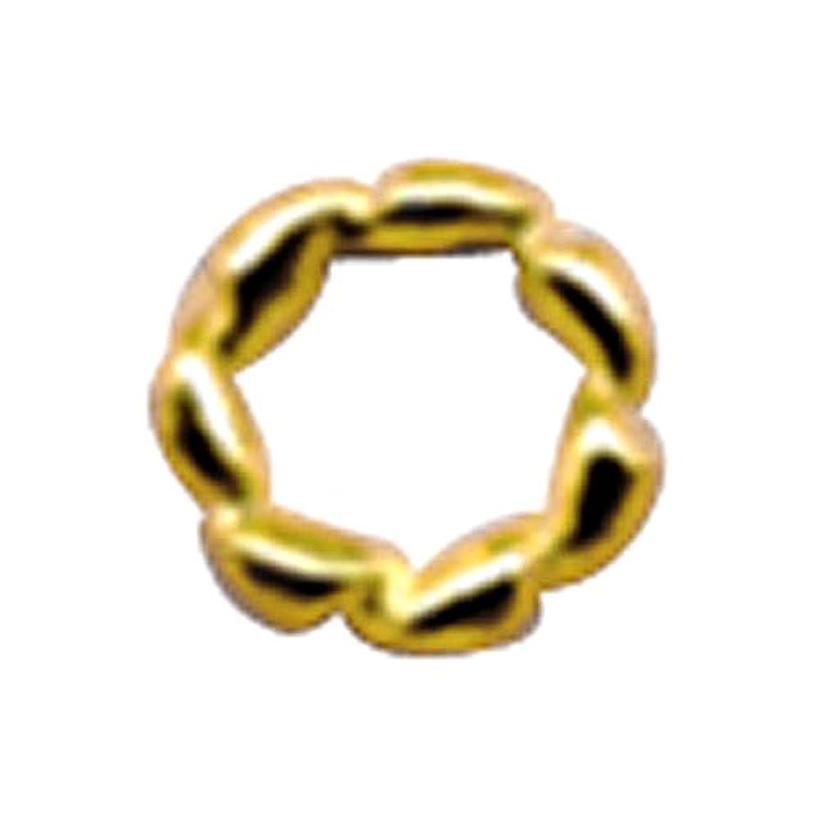 練習した再生可能補足プリティーネイル ネイルアートパーツ ツイストリングM ゴールド 12個