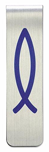 Christliche Geschenkideen °° Lesezeichen/Magnet (Blauer Fisch)