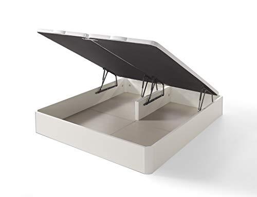 IKON SLEEP Canapé Abatible Fénix de Madera Blanco 200x200 cm - Montaje a Domicilio | Gran Capacidad | Esquinas de Madera