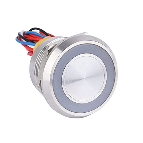 Abbeycon 22mm Special price for a limited time 12V 24V Max 73% OFF RGB Ring Normally LED Light IP68 Momentary