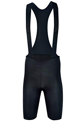 Sundried Mens Black Padded Cycle Bib Shorts Premium Fietskleding Mannen Italiaanse Stoffen Road en MTB Bike