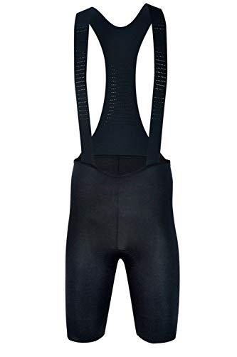 Sundried Mens Black Padded Cycle Bib Shorts Premium Fietskleding Mannen Italiaanse Stoffen Road en MTB Bike