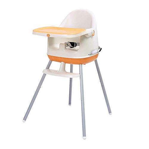 YLCJ Kinderstoelen Eettafelstoelen Verstelbare multifunctionele draagbare kindereettafel (kleur: ORANGE, Afmetingen: hoge voeten) High feet ORANJE