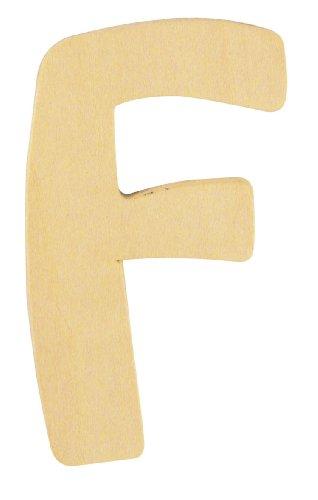 Rayher Hobby 6193500 Lettre en Bois, 6 cm, F
