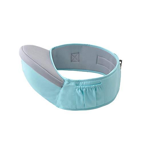 Bebé de la cintura del taburete multifunción bebé Hip Asiento de la cintura del portador de bebé con correa ajustable de luz azul