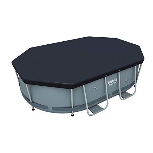 Bestway Flowclear PVC-Abdeckplane 295x184 cm, grau, für Power Steel Oval Pool 300x200x84 cm