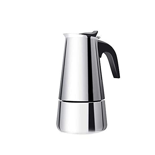 FHISD Hervidor de café Cafetera Espresso Latte Percolador Estufa Cafetera, Cafetera Espresso Máquina de café 200/300/450 ml Herramientas de Cocina de Acero Inoxidable (Color: 450ML)