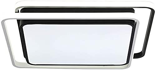 TAIDENG Luz de Techo de Metal, lámpara de Techo LED Negro Creativo Cuadrado de acrílico Luces de Techo Ajustable Brillo Dormitorio Dormitorio Moderno Decoración de la Sala de Estar