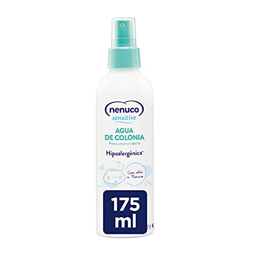 NENUCO Sensitive Agua de Colonia Hipoalergénica Sin Alcohol para Bebé, Adecuado para Cuerpo y Cabello - 175 ml