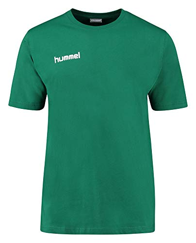 hummel Core Cotton T-Shirts, Unisex Adulto, Verde Oscuro Evergreen, 2XL