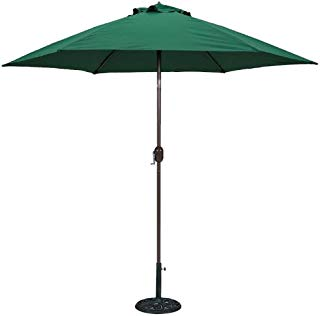 TropiShade 9-Feet Bronze Aluminum Polyester Market Umbrella with Green Polyester Cover