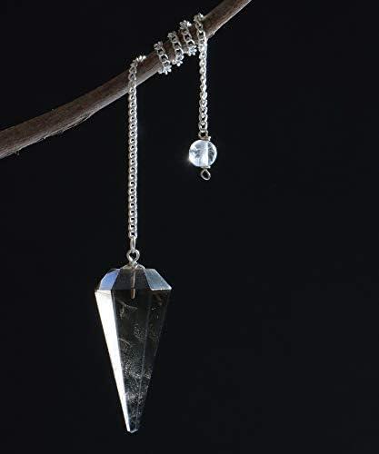 Ruby Zoisite Crystal Stone Pendulum Dowser Dowsing Healing