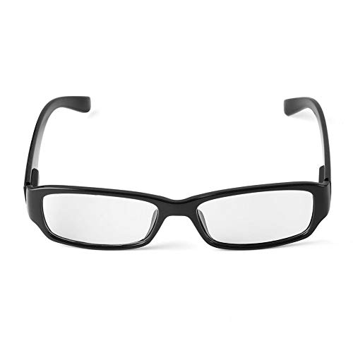 QiKun-Home Gafas Protectoras de radiación de plástico Duradero para computadora, televisión, Gafas Planas antirradiación con Marco Cuadrado, Negro
