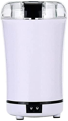 ZFQZKK Molinillo de Alimentos eléctricos Multifuncional, Molinillo de Grano eléctrico Spice Máquina de rectificado de café Hogar Herbal Crusher molinillos de Cafe (Color : White, Size : CN Plug)