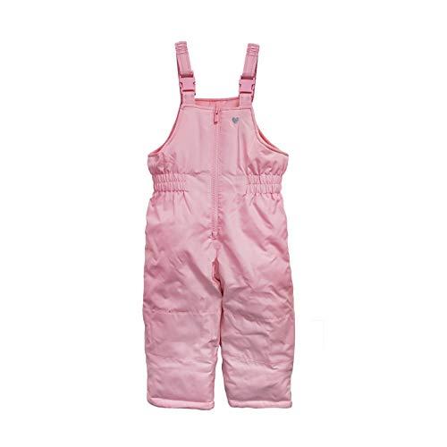 Carter's Girls' Snow Bib Ski Pants Snowsuit, Rosario Pink, 3T
