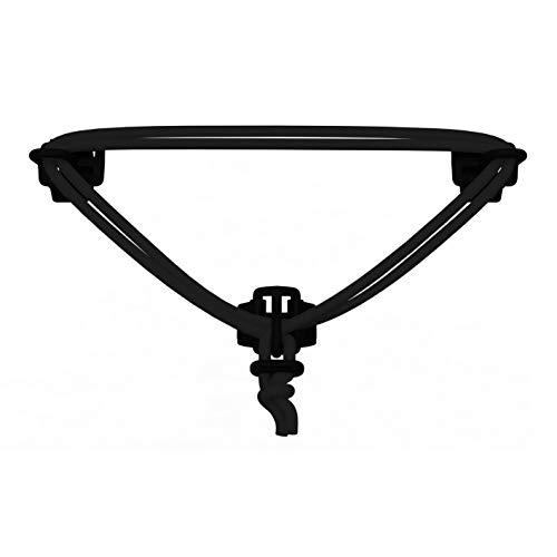 carryyygum Lenkerspannband 105cm | Gepäckspanner, Spanngummi, Elastisches Gummiband | Mini-Gepäckträger für Fahrradlenker [Klettverschluss, schwarz]
