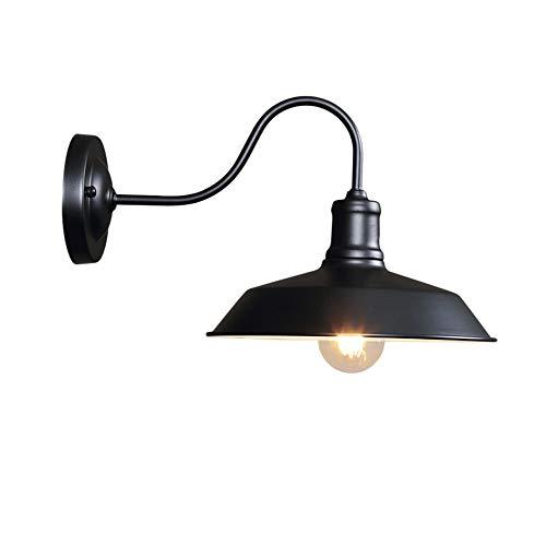 Any leampp Bestshared outdoor barnlicht, vakantie op de boerderij Goosenhoeklicht, buitenwandlamp, industriële wandmontage lamp (zwart, 1 verpakking)