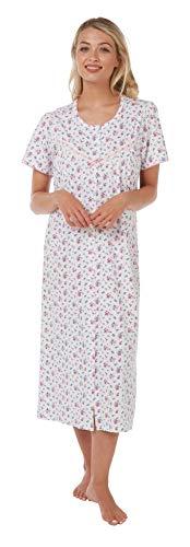 Marlon Damen Anna Nachthemd, Pink (Pink 001), 40 (Herstellergröße: 12/14)