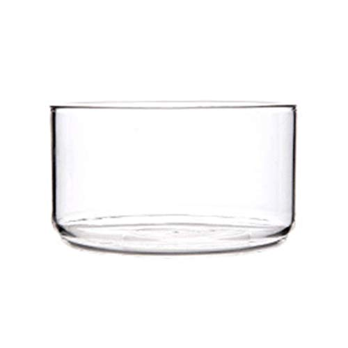 Cabilock Salatschüssel Glas Rührschüssel Runde Transparente Dessertschalen Obstschale Hitzebeständige Glasschale Tiefe Schale für Süßigkeiten Obst Dessert Weihnachten Tischdeko(Ohne Deckel)