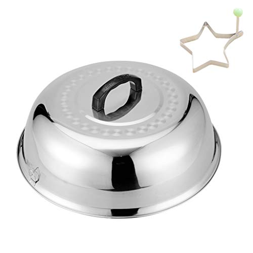 Save %34 Now! ZHOUWHJJ BBQ Stainless Steel 12 Round Basting Cover/Cheese Melting Dome and Steaming ...