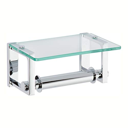 Top 10 best selling list for delta double post toilet paper holder with glass shelf