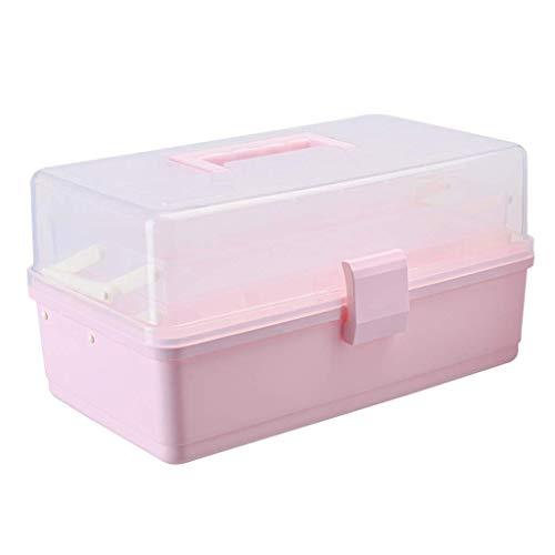 1yess Pill Box Medizin-Speicher-Box PP Haushalt Medizin-Kasten 34x20.5x17cm Apotheke (Farbe: Lila) (Color : Pink)