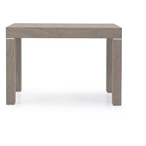 Milani Home s.r.l.s. Tavolo da Pranzo Moderno di Design ALLUNGABILE A CONSOLLE Tortora CM 90 X 50/100/150/200/250/300 per Interno Sala da Pranzo