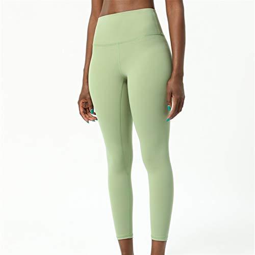 FDSJKD 2.0 Pantalones de Yoga Entrenamiento Deporte Legging Mujer Desnuda Siente Mutery Soft Fitness Legging Gimnas (Color : Green, Size : 4 XS)