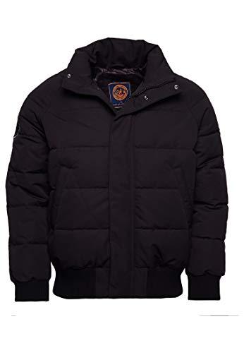 Superdry Men's Everest Bomber Jacket without Hood - Black - Medium