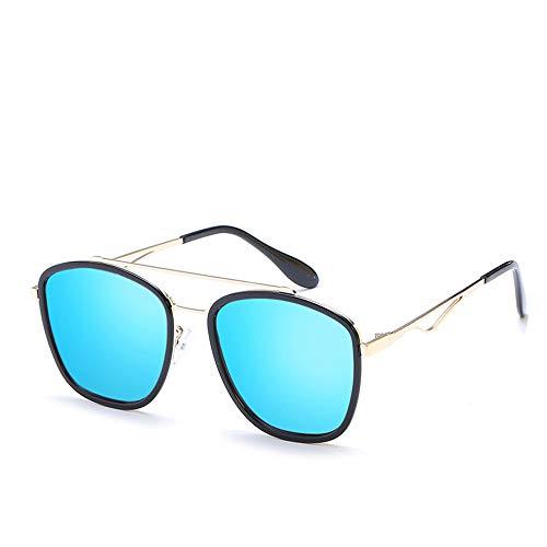 KuanDar clo Sonnenbrillen Für Frauen, Metall Rand Rahmen, Stilvolle, uv Augenschutz, Anti-Reflexion 100%,for Damen Uv400 Reflektierenden Spiegel, A