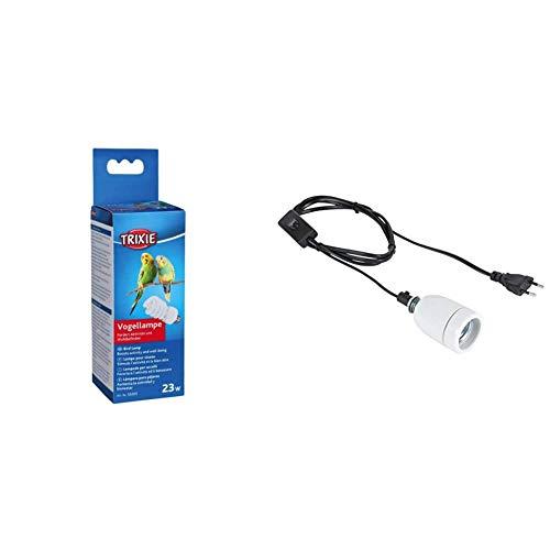 TRIXIE 55001 Vogellampe, 23 W & 76105 Keramikfassung Pro Socket