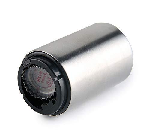 JUNSHUO Magnetische automatische bier flesopener met cap Catcher roestvrij staal Push & Pull dopopener cadeau voor mannen