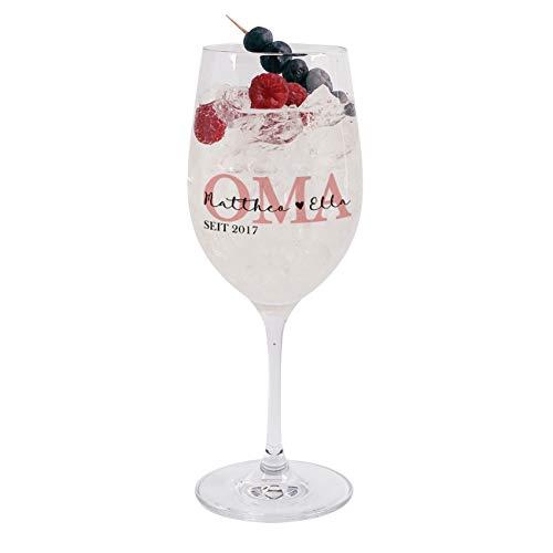 Herz & Heim® Weinglas mit Aufdruck - Geschenk für Oma - Glas von Leonardo, super Geburtstagsgeschenk