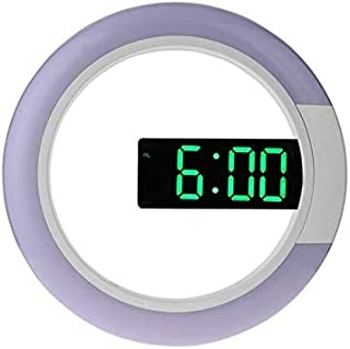 Wall Clocks - 3D LED Digital Table Clock Alarm Mirror Hollow Wall Clock Modern Design Nightlight For Home Living Room Deco...