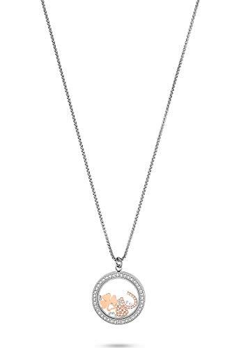 GMK Damen-Kette Edelstahl 78 Zirkonia One Size Silber 32012879