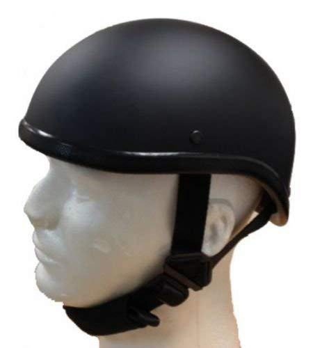 Gladiator Half Novelty Harley Motorcycle Skull Cap Flat Black Skid Lid (S, BLACK)