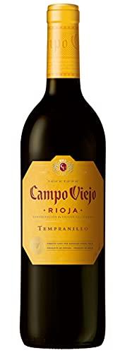 Campo Viejo Tempranillo Rotwein – Spanischer Rotwein mit Fruchtaromen, würzigen Kräuternoten und zarter Vanille-Kokos-Süße – Weinbox-Set 1 x 0,75 L