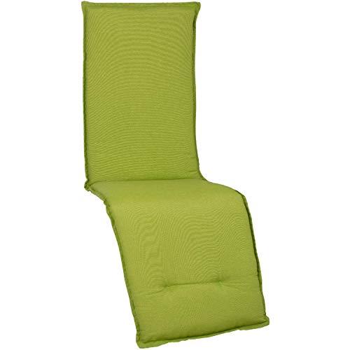 Beo Relaxsessel Auflage Wasserabweisend Turin | Made in EU Premium-Qualität | Liegestuhl Auflage UV-beständig, fleckenabweisend und waschbar | Atmungsaktive Relaxstuhl Auflage in Hell-Grün
