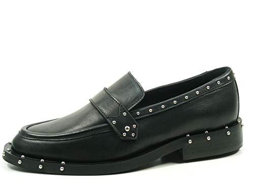 Bronx Bwagonx 66000-A-01 Schuhe Damen Halbschuhe Slipper Mokassins Loafer, Größe:37 EU, Farbe:Schwarz