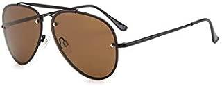 Womens Sunglasses Men's Couple Sunglasses, Driving Sunshade Fashion Color Film Frog Mirror, Men and Women Driving Mirror Mens Sunglasses (Color : Brown)